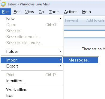 windows live mail export mail from outlook express